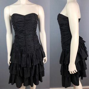 Vintage 1980 Positively Ellyn black cocktail dress